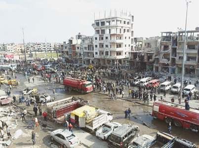 Bomb attacks kill 87 in Syria
