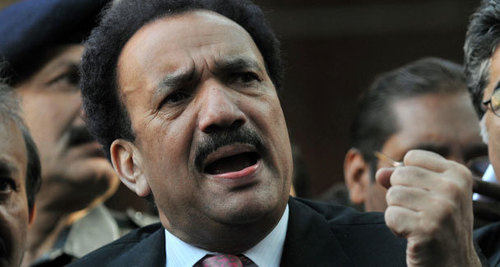 Rehman Malik sees terrorism behind inferno: Record shows factory had 255 workers