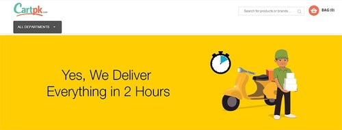 CartPk.com promises to deliver in 2 hours.