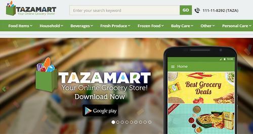 Tazamart promises same-day delivery, but doesn't promise they won't be out of stock!