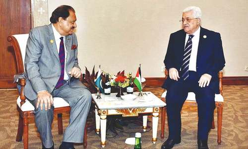 President calls for resolution of Palestine issue