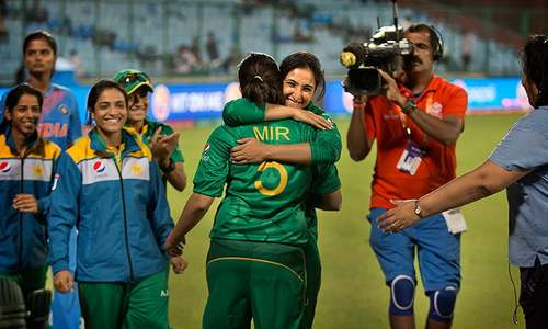 In pictures: Pakistan women down India in rain-affected encounter