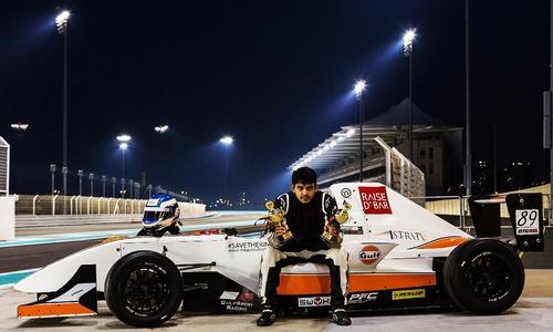 Dreams of thunder for Pakistani seeking Formula 1 glory