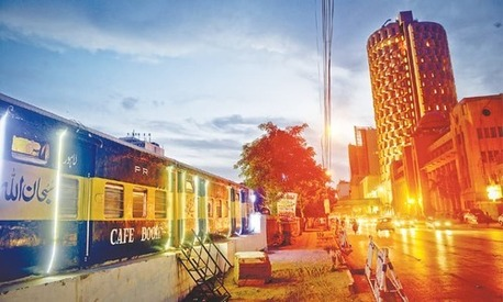 At Cafe Bogie, you can have a meal on a train without moving a mile out of Karachi
