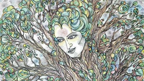 In 'The Storyteller', nature expresses the artist's inner voice