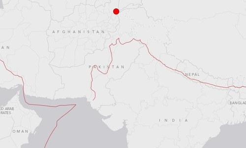 USGS pinpoints Ashkasham, Afghanistan, as quake epicentre.