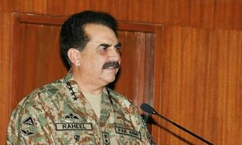 Karachi operation won't end soon, says Raheel