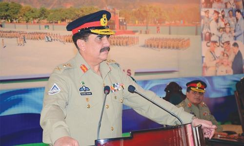 No stability until corruption rooted out: army chief