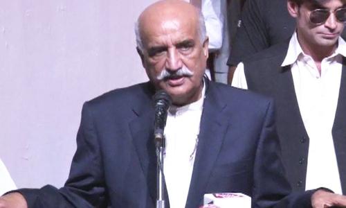 Khurshid Shah calls for PM to follow COAS' lead
