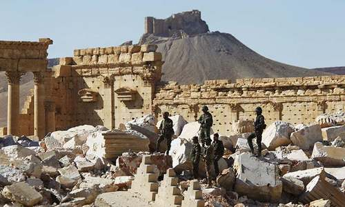 Russia clears Syria's ancient Palmyra of mines