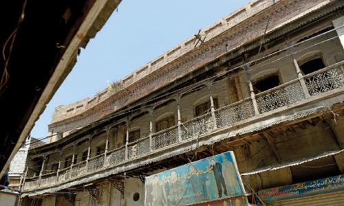 Purana Qila - the old city's commercial hub