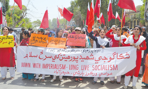 Thousands take part in Labour Day rallies across Sindh