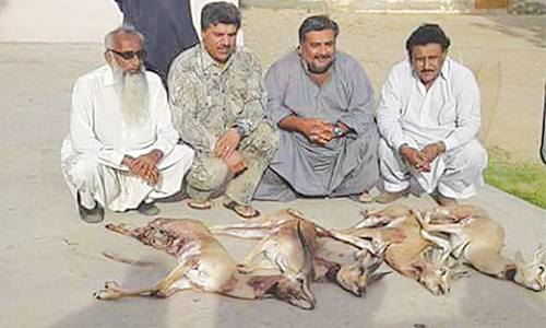 Three PPP lawmakers booked in deer hunting case