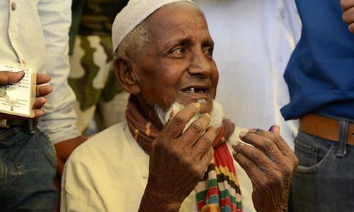 Aged 103, Indian man votes for the first time