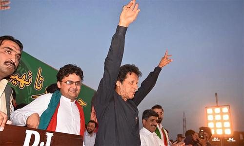 Imran Khan lambasts Durrani, Fazl at PTI's Peshawar rally