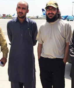 Kasim Gilani (left) and his twin brother Ali Haider Gilani in Kabul. —Photo: Kasim Gilani