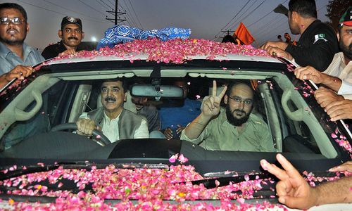 Celebrations across Multan as Ali Gilani returns home after three years in captivity