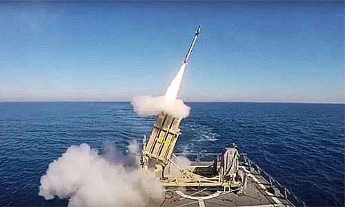 Israel tests missile defence system at sea