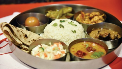 The thali reaffirms that variety is the spice of life