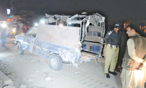Two policemen killed, eight injured in Quetta blast