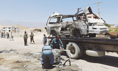 Ten killed in suicide attack near Kabul