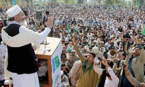 JI kicks off train march against corruption