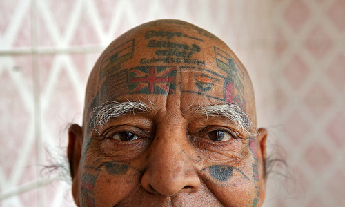 For world records, Indian man removes teeth and gets over 500 tattoos