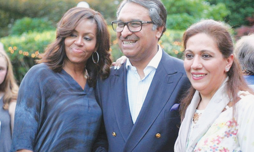 Michelle attends graduation party at envoy's residence