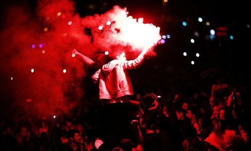ریال میڈرڈ کی فتح پر مداحوں کا جشن