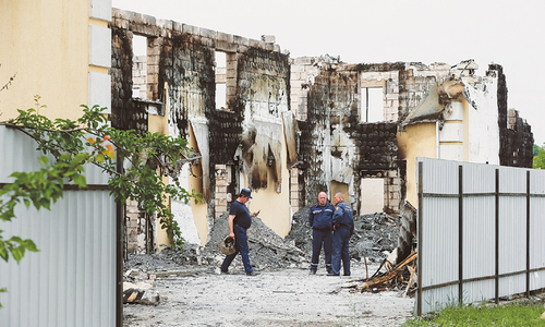 17 killed in fire at Ukrainian home for elderly