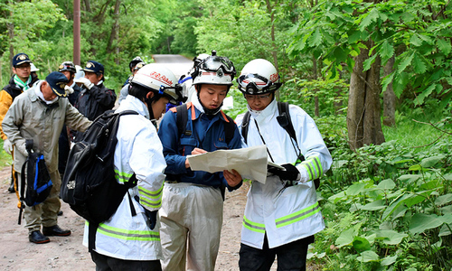 Searchers comb forest for Japanese boy 'sent to forest'