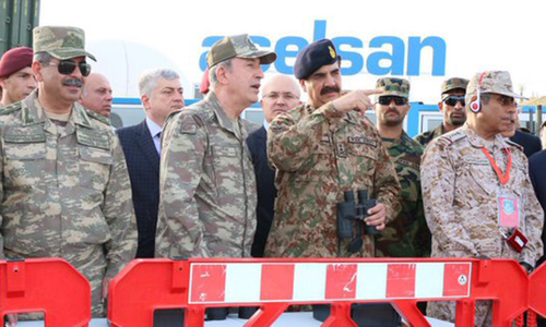 Gen Raheel lauds Turkey for successfully conducting multinational military exercises