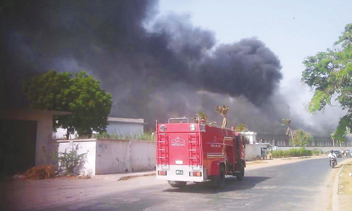 Fire in PIA's complex building destroys machinery