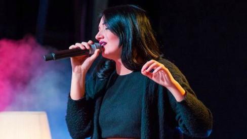 Italian singer Silvia Boreale performs in Karachi