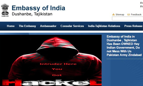 Seven Indian embassy websites hacked by group claiming Pakistan 'support'