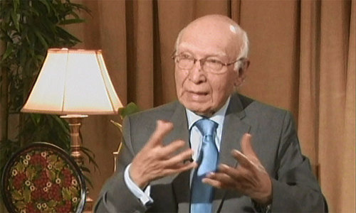 India never opened window of opportunity for talks: Aziz