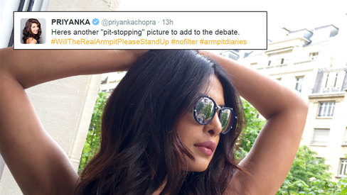 Priyanka Chopra ends the armpit debate with a 'pit-stopping' picture