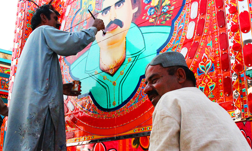 How the image of truck art betrays reality