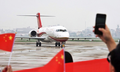 Made in China plane makes first commercial flight