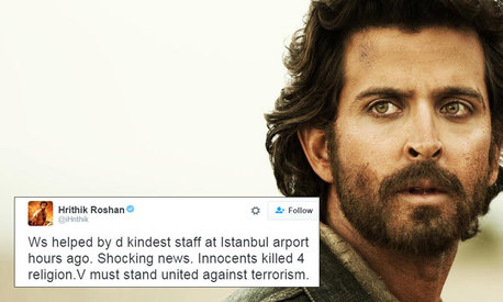 Hrithik Roshan narrowly escapes Istanbul airport bombing