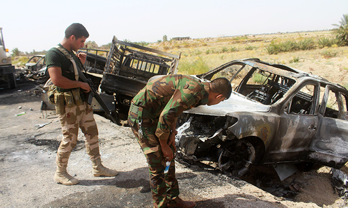 Air strikes decimate IS forces fleeing Iraq's Fallujah