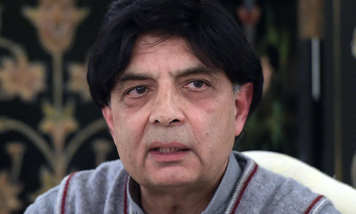 Nisar rules out in-house change, forward bloc
