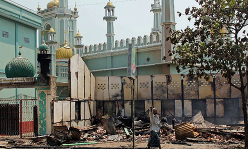 Buddhists torch mosque in Myanmar as anti-Muslim sentiment swells