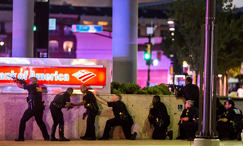 Five cops killed in Dallas protests after two black men shot dead by police