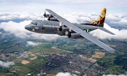 Pakistani 'flyboys' honour Operation Zarb-i-Azb in skies over United Kingdom