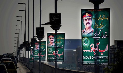 Mysterious banners urging COAS to take over put up across country