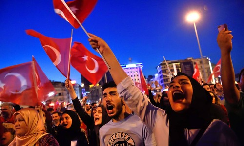 Thousands rally for Turkey president after coup fails