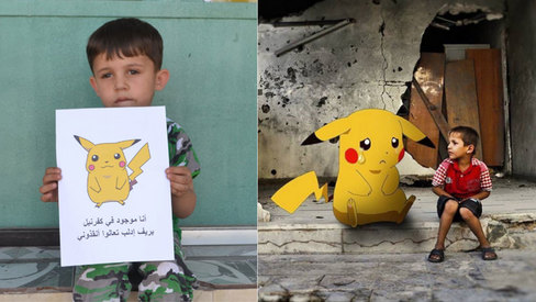 Syrian children turn to Pokemon Go to ask people to save them