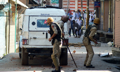 India urges 'maximum restraint' in restive Kashmir