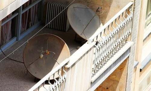 Iran destroys 100,000 satellite dishes